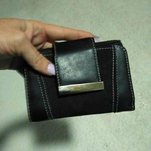 Small black women's wallet